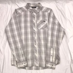 Arc'teryx Elaho Shirt Silver White Plaid Medium